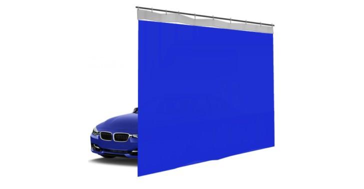 Шторы ПВХ для автомойки сплошные, цвет синий 1м³
